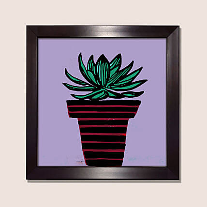 Sleek Design Cactus Illustration