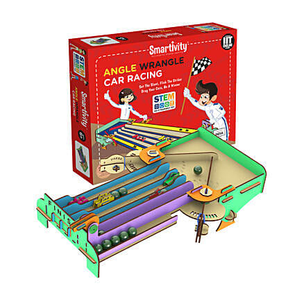 Smartivity Angle Wrangle Car Racing Game Kit