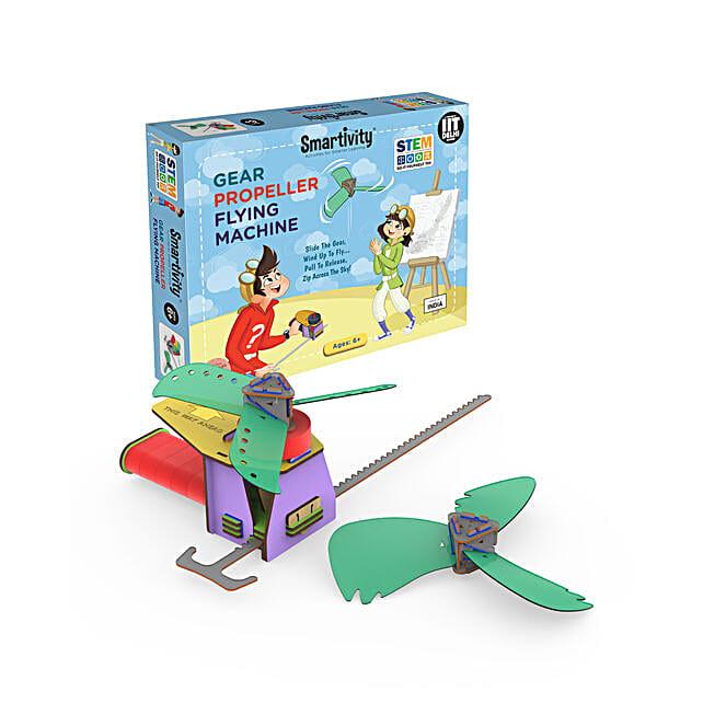 Smartivity Gear Propeller Flying Machine Game Kit