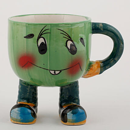 printed smiley mug shape vase