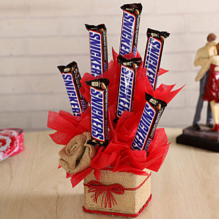 Chocolate Bars in a Glass Vase:New Arrival Chocolates