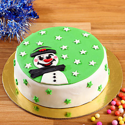 Buy Snowman With Stars Cake
