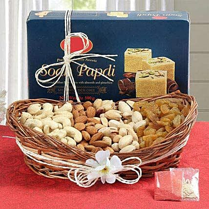 Basket of dry fruits with