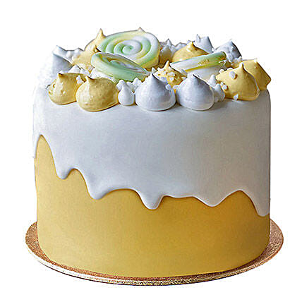 lemon decorated fondant cake 1kg
