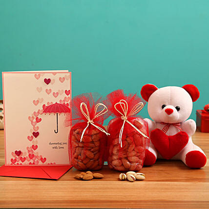 Valentines Day Cute & Healthy Combo for Her:Send Valentines Day Greeting Cards