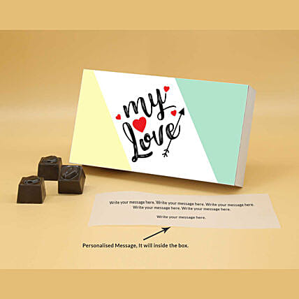 Online Soothing Love Personalised Chocolates:Valentine Personalised Chocolates
