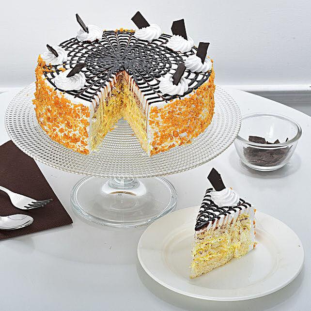 Special Butterscotch Cake Half kg Eggless
