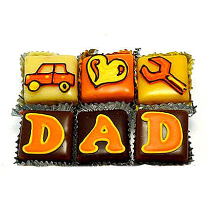 Special DAD Cupcakes 6 Eggless