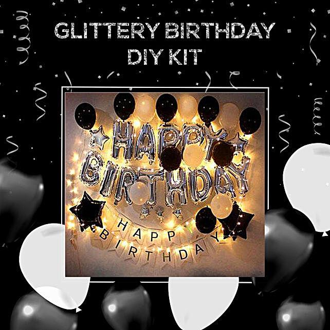 Special Glittery Birthday Decoration Kit