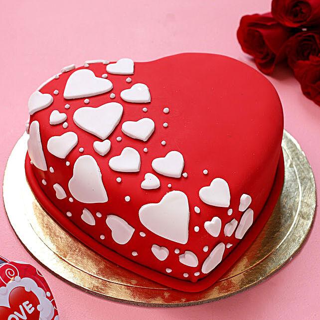 Special Hearts Truffle Fondant Cake