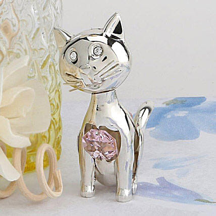 Swarovski golden small cat
