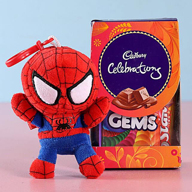 Spiderman Kids Rakhi & Cadbury Celebrations:Send Rakhi to Jhansi