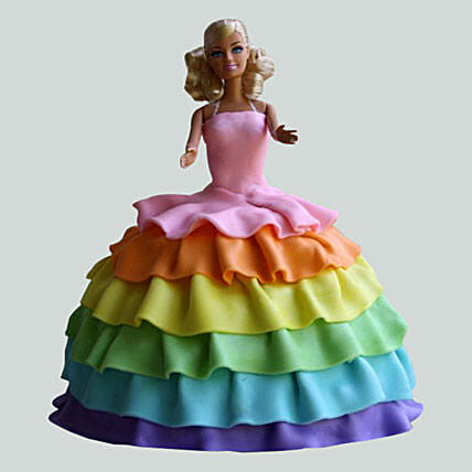 Barbie Rainbow Birthday Cake 2kg