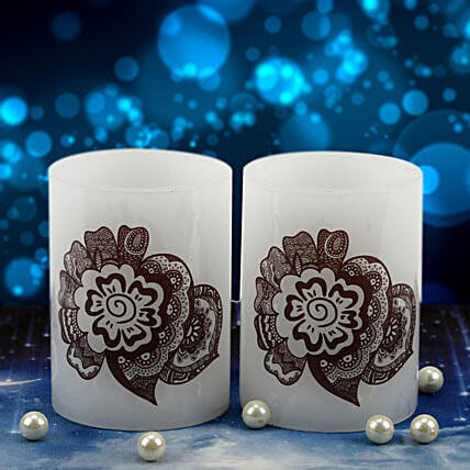 Pair of henna candle