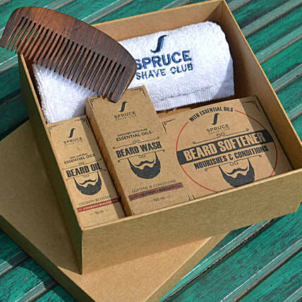 Spruce Shave Club Beard Care Trio- Cedarwood & Mandarin