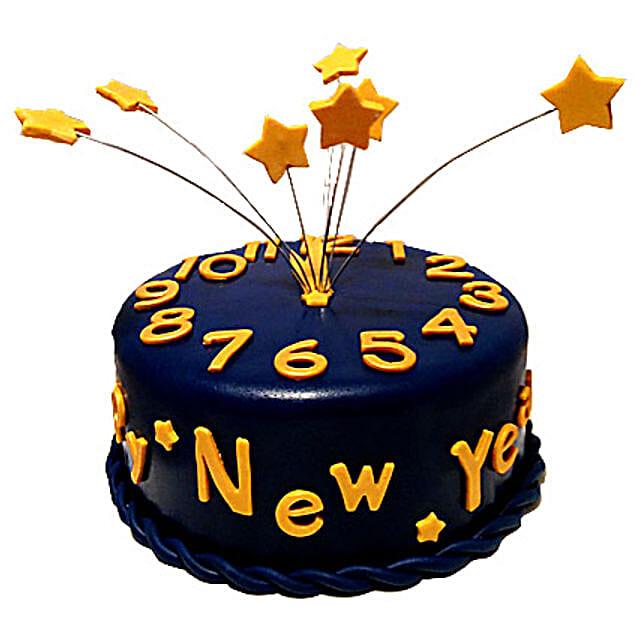 Starry New Year Cake 2kg Eggless