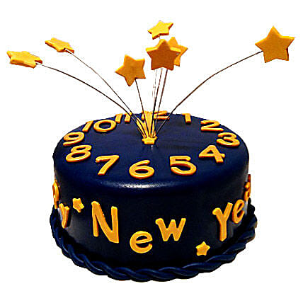Starry New Year Cake 2kg