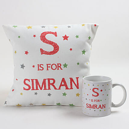 printed cushion n mug for daughter day