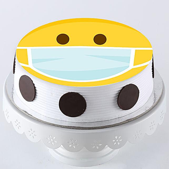 Smiley Design Cake Online