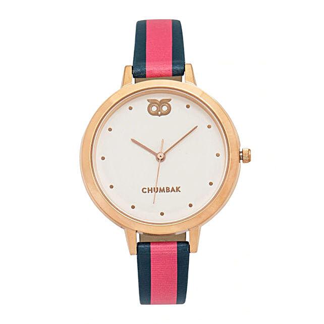 Strawberry Ice Stripes Wrist Watch