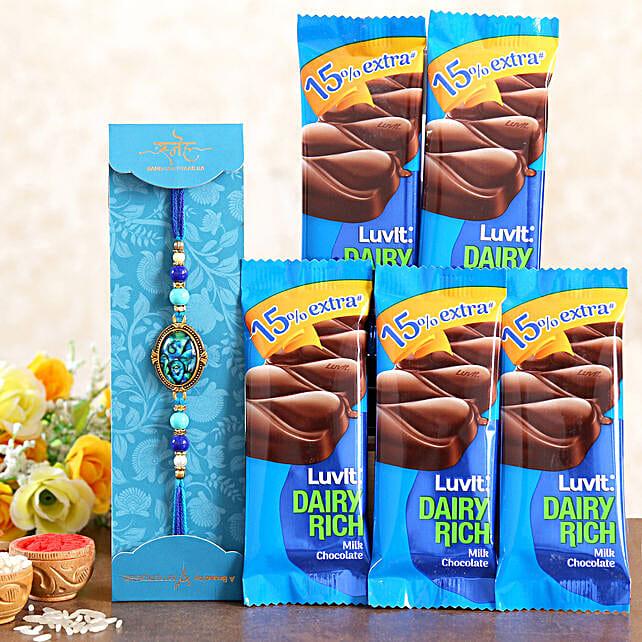 Striking Epoxy Rakhi And LuvIt Chocolates:Send Luvit Chocolates