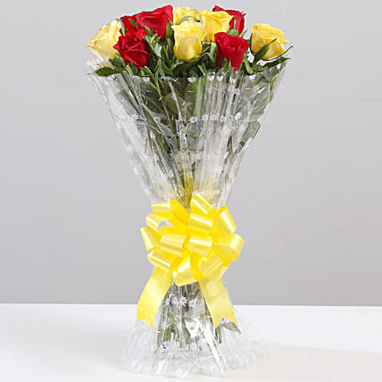 Bunch of Mixed Roses Online:Send Flowers to Jalpaiguri