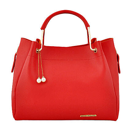 Stylish Bagsy Malone Red Hand Bag:Handbags and Wallets Gifts