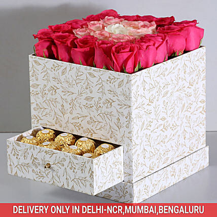 Rose and Chocolate Luxury Box Online