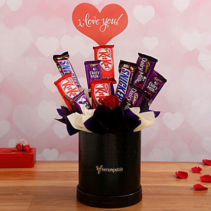 Romantic Chocolate Arrangement for Wife