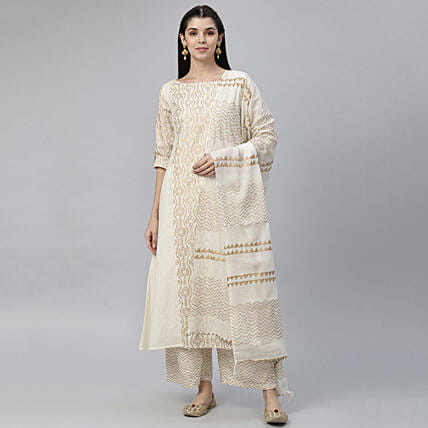 Subtle Stripes Straight Kurta:Apparel Gifts