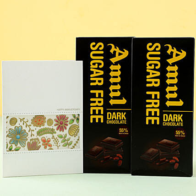 Online Sugar Free Dark Chocolates Anniversary Greetings