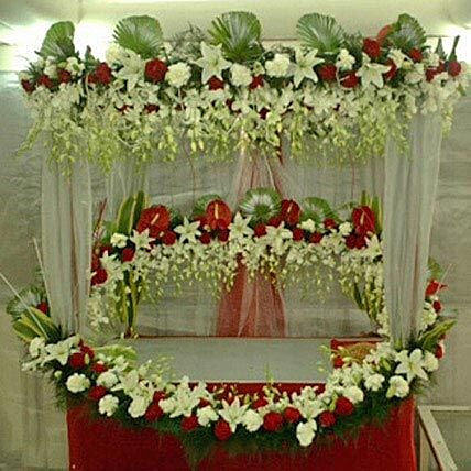Superb Floral Ganapati Decoration:Flower Decoration Near Me