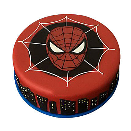 Spiderman design fondant cake 1kg