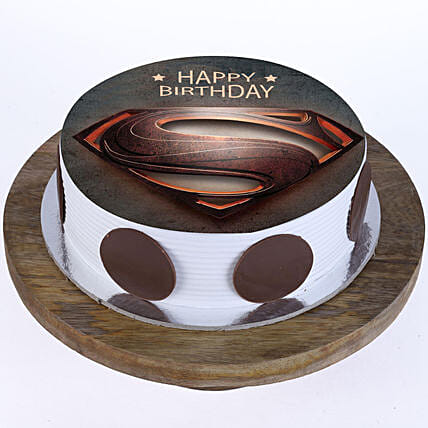 Online Superman Logo Cake For Kids:Superhero Birthday Cakes
