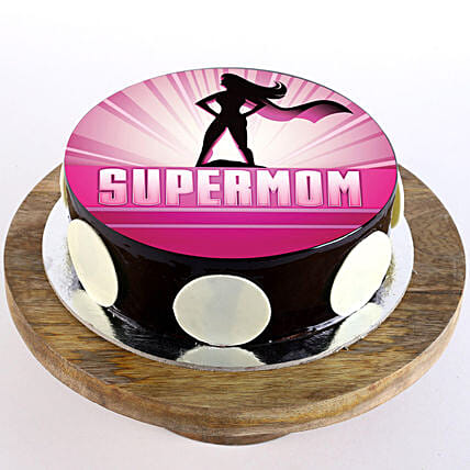 Customised photo cake for mom