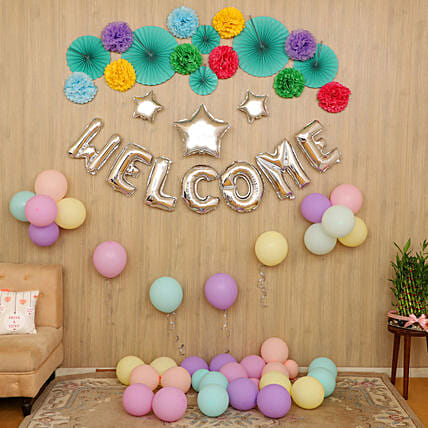 party decoration for welcome online