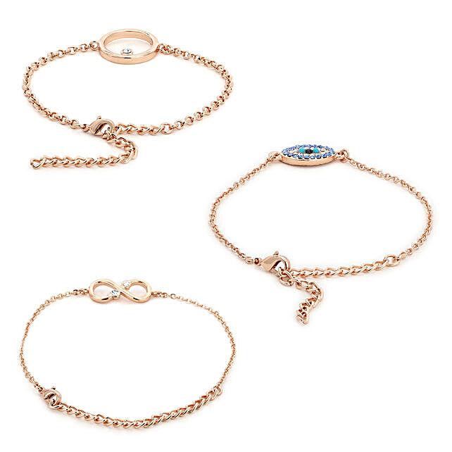 Swarovski Evil Eye Bracelet Set