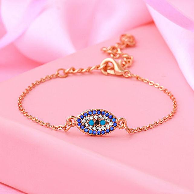 Swarovski Evil Eye Infinity Bracelet Set
