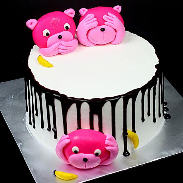 Bear Design Choco Cake - Kids:Buy Second Birthday Cake