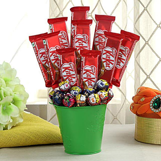Bucket of chocolates