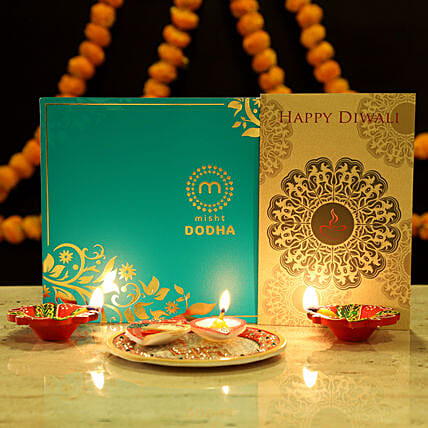 Online Sweet With Diwali Greetings Hamper