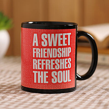 online friendship printed mug:Coffee Mugs