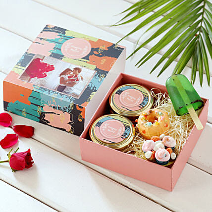 Sweet Indulgence Bath Essentials Personalised Box:Personalised Soaps