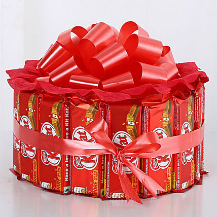 Kitkat Chocolate Bouquet chocolates:Chocolate Delivery