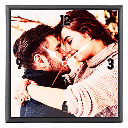 best photo wall clock for couple:Personalised Photo Clock