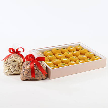 Dry fruits with sweets:Send Gift Baskets