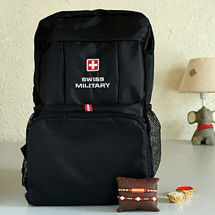 Online Foldable Backpack And Rakhi Set