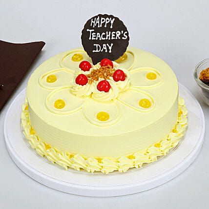 Butterscotch Cake Online for Teachers:Happy Teachers Day Cake
