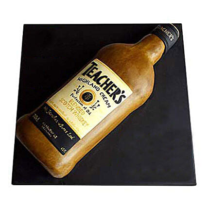 Teachers Scotch Whisky Cake 3kg:Bottle Shape Cake