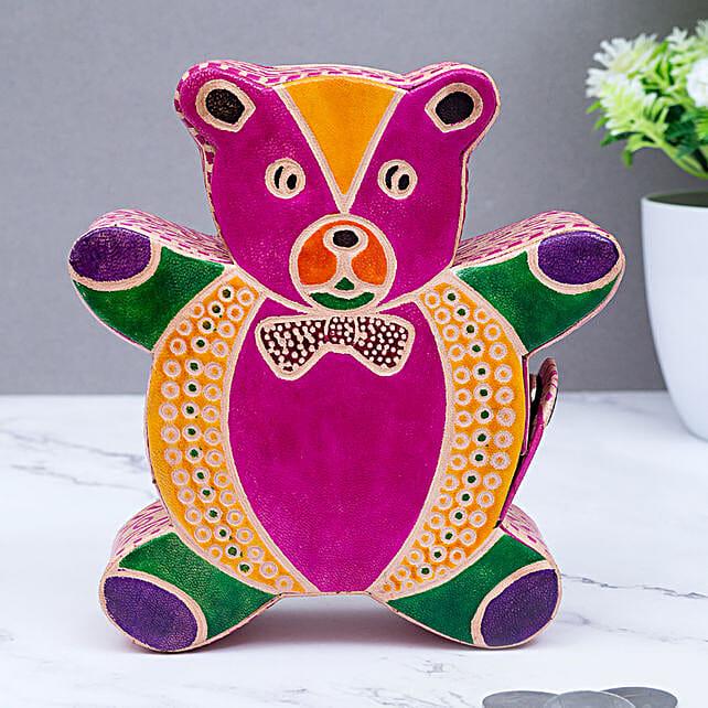 Ganesha Shape Leather Piggy Bank For Kids:Stationery Gifts